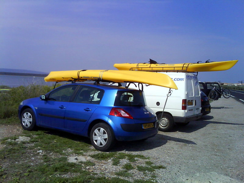 transport canoe voiture