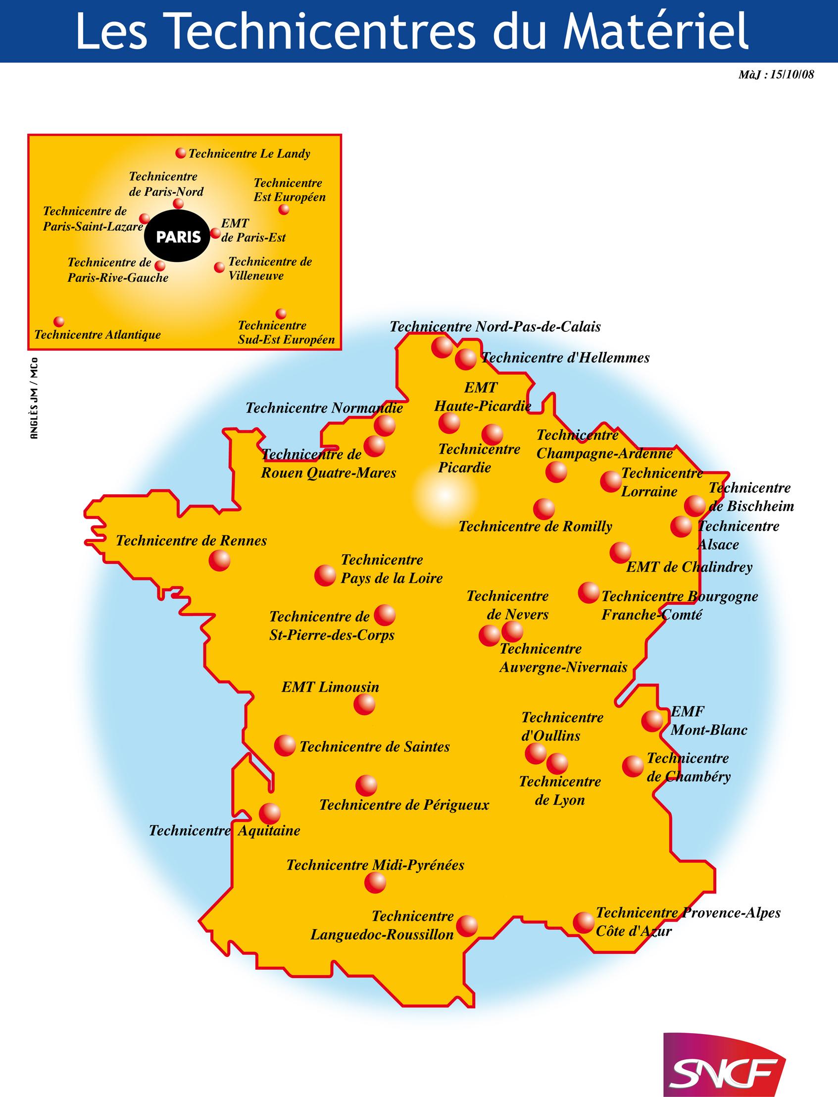 technicentre en france - L'entreprise SNCF, ses métiers, ses cheminots - Le Web des Cheminots