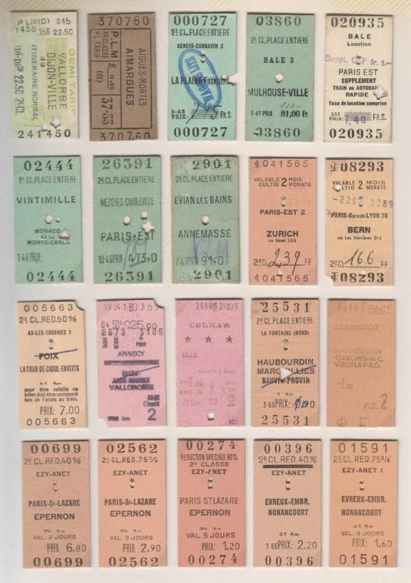 """Résultat de recherche d'images pour """"ticket SNCF  Paris Marseille 1970 Images"""""""